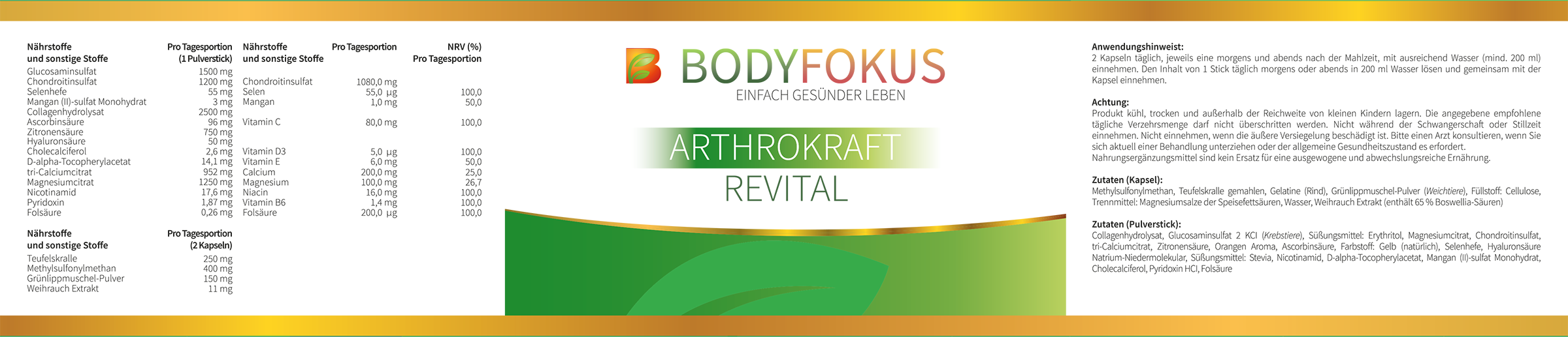 ArthroKraft Revital Etikett